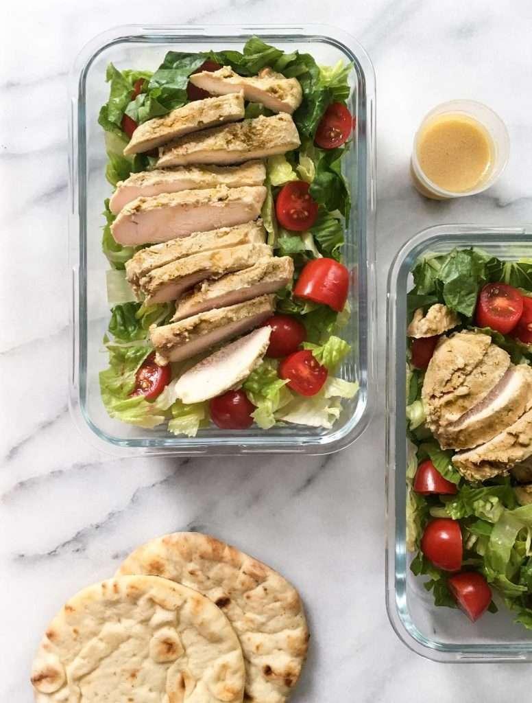 Recette meal prep: Salade repas poulet citron origan