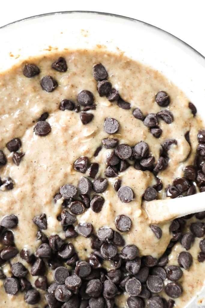Muffins santé aux bananes et au chocolat