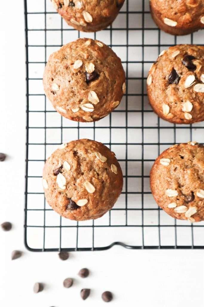 Muffins aux bananes et chocolat à congeler