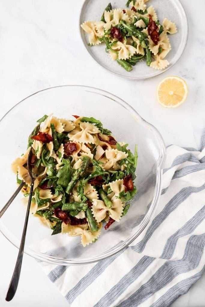 Salade pâtes asperges prosciutto